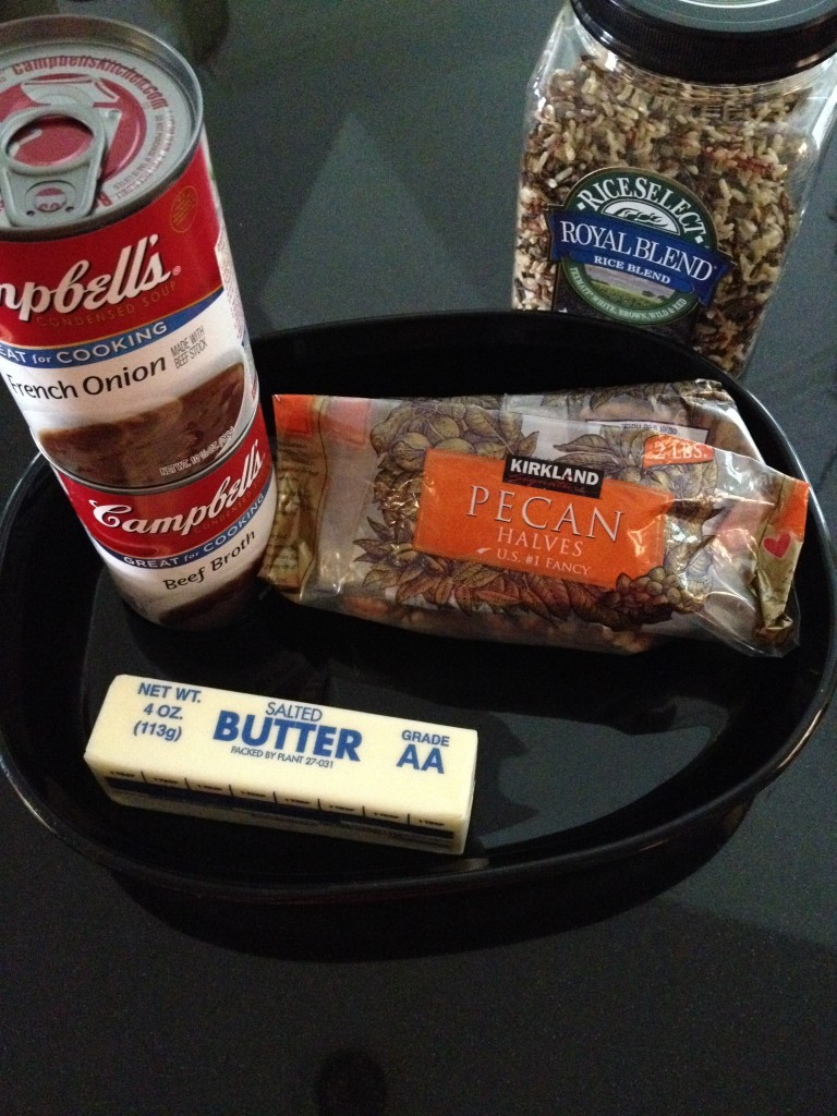 Items for Pecan Rice Casserole