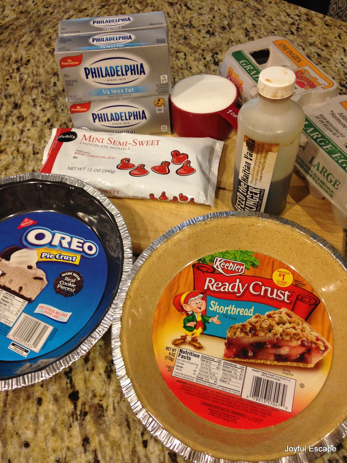 Ingredients for Chocolate Chip Cheesecake