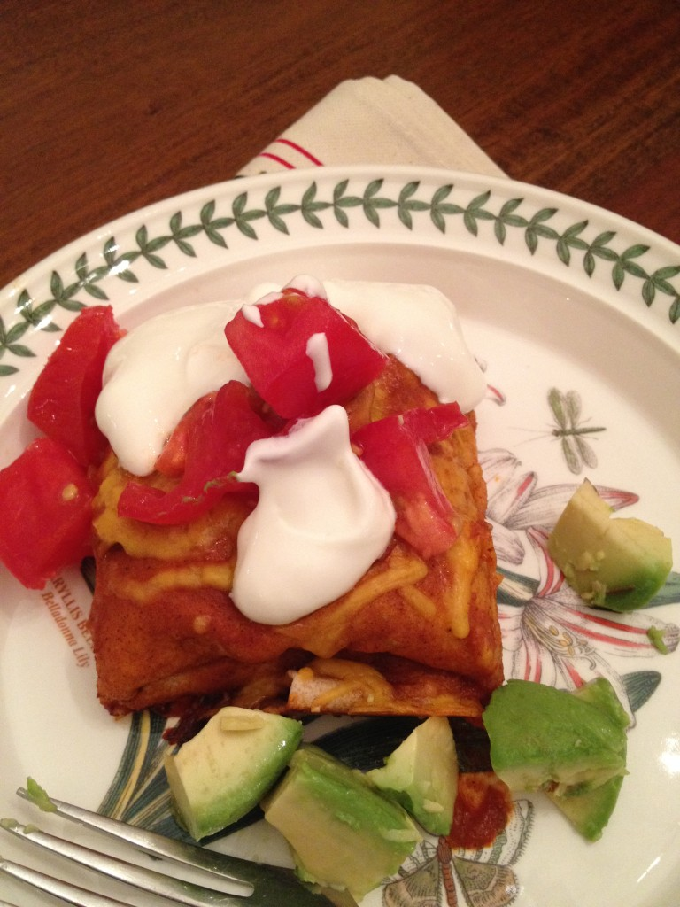 Serve with sour cream, tomatoes and avocado. You can also serve with shredded lettuce.    The Best I Ever Made!