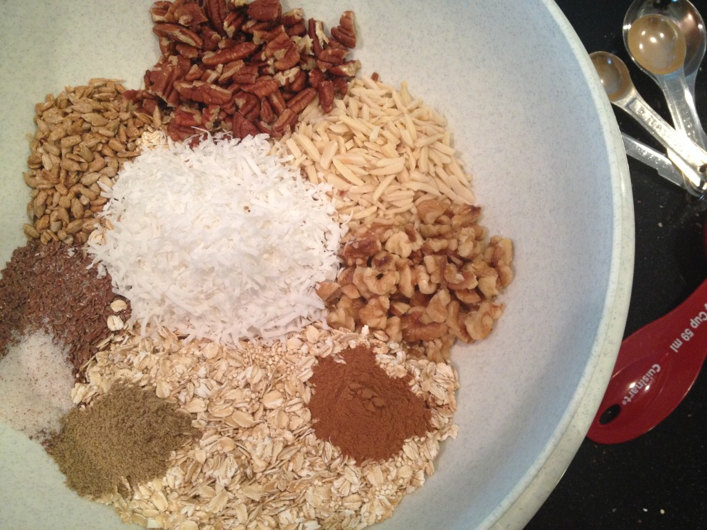 All Dry Ingredients - Ready to be mixed.